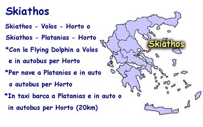 How to come from Skiathos to Horto